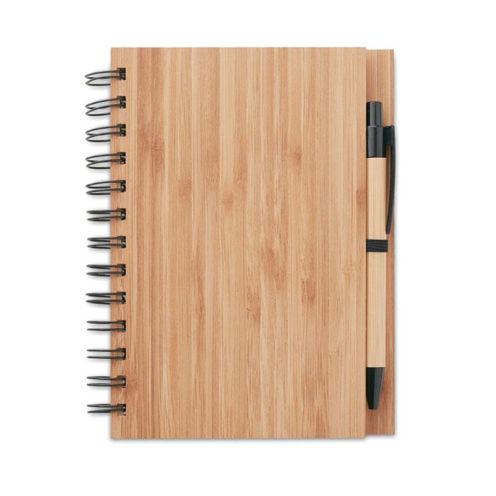 MO9435-40<br> Carnet din bambus cu pix